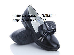 Туфлі дівч Совёнок 5300А-1, чорний шкіра 33
