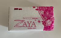 Салфетки косметические 200 шт. в мягкой упаковке ZAYA® (100% целлюлоза)