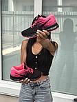 Женские кроссовки Nike Air Max 2017 (черно-малиновые), фото 3