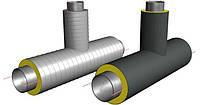 Тройники стальные предизолированные ППУ в ПЕ или СПИРО оболочке