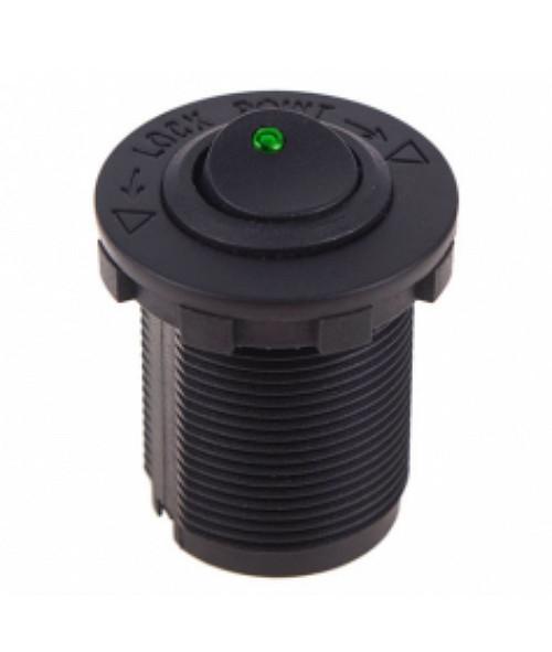 Кнопка врезная в планку 12V 20 A Green (8780)