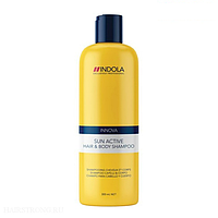 Шампунь-защита волос, от ТМ Indola, с касторовым маслом, придаёт силу и блеск, 300мл, для летнего сезона