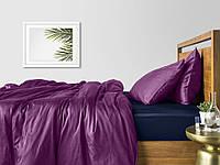 Комплект евро взрослого постельного белья сатин VIOLET BLUE-S