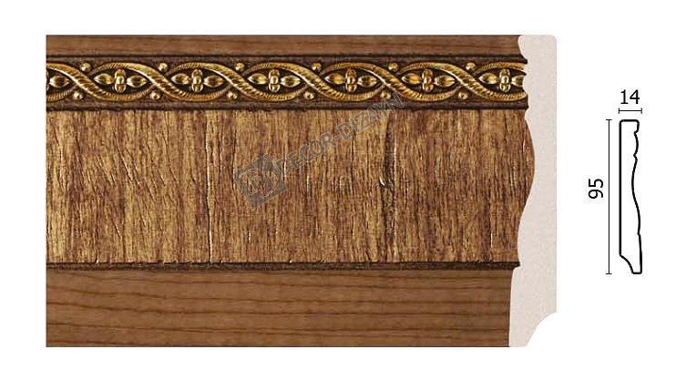 Плінтус підлоговий Арт-Багет 153-3, інтер'єрний декор