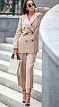 Женский шерстяной костюм: пиджак и брюки с высокой посадкой (в расцветках), фото 2