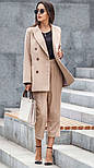 Женский шерстяной костюм: пиджак и брюки с высокой посадкой (в расцветках), фото 3