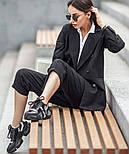 Женский шерстяной костюм: пиджак и брюки с высокой посадкой (в расцветках), фото 7