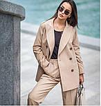Женский шерстяной костюм: пиджак и брюки с высокой посадкой (в расцветках), фото 10