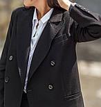 Женский шерстяной костюм: пиджак и брюки с высокой посадкой (в расцветках), фото 5