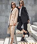 Женский шерстяной костюм: пиджак и брюки с высокой посадкой (в расцветках), фото 9