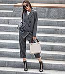 Женский шерстяной костюм: пиджак и брюки с высокой посадкой (в расцветках), фото 8