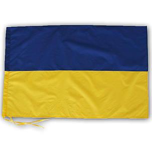 Флаг Украины 65х90 см с завязками для флагштока, фото 2