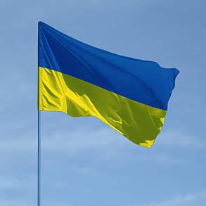 Прапор України 65х90 см із зав'язками для флагштока, фото 2