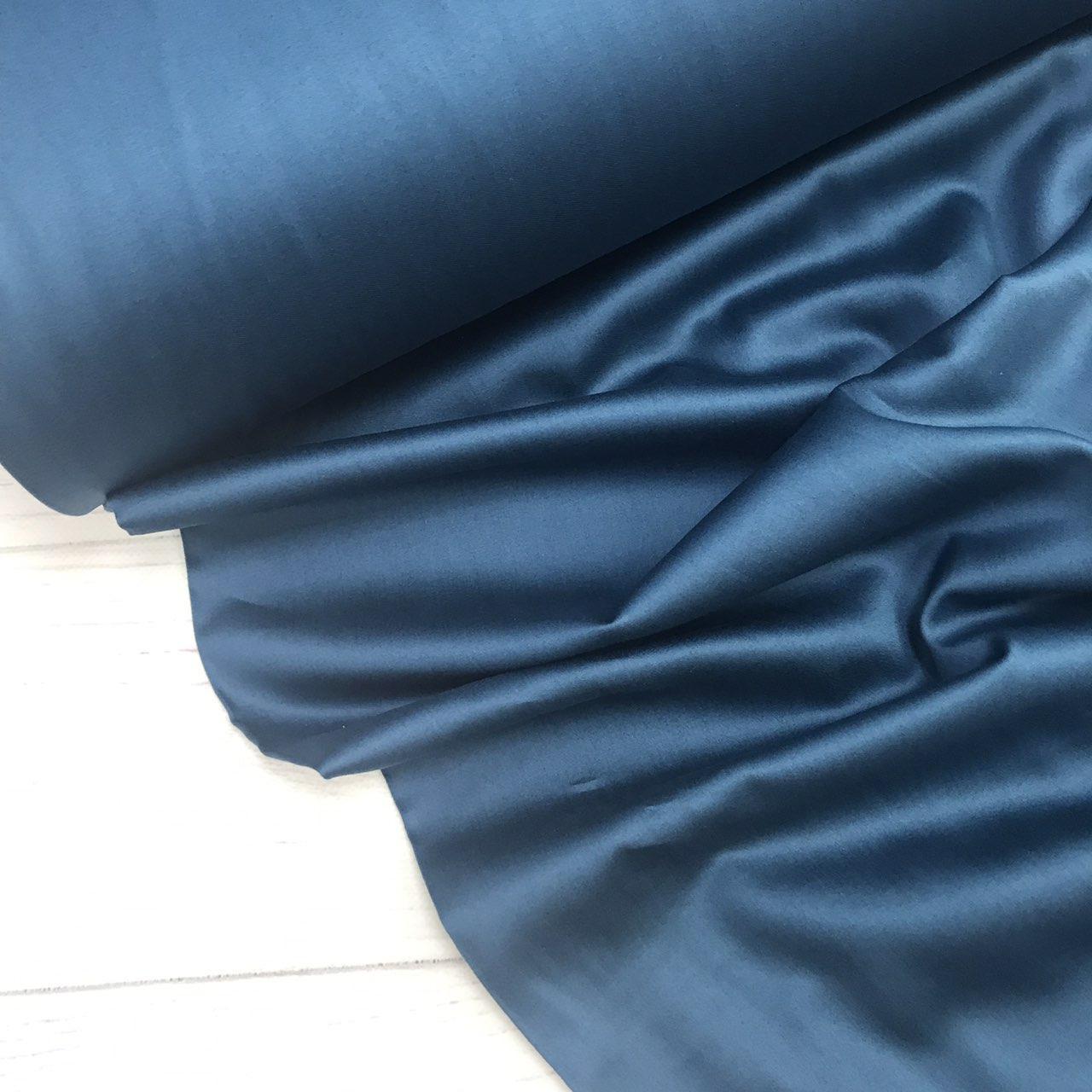 Сатин цвет темный изумруд (ТУРЦИЯ шир. 2,4 м) № 74