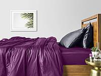 Комплект евро взрослого постельного белья сатин VIOLET GREY-P
