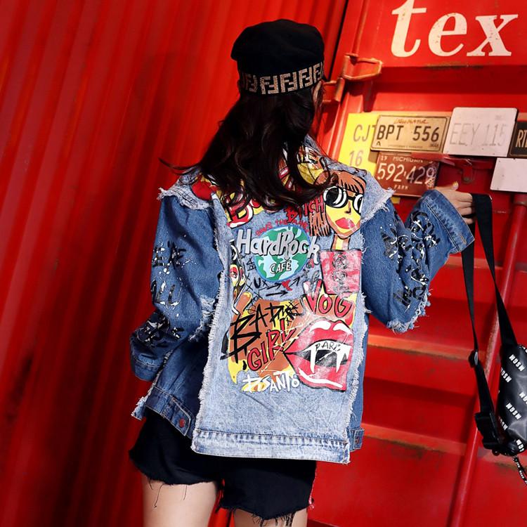 Женская джинсовая куртка Chaos с фото принтом