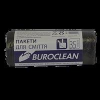 Пакеты для мусора Buroclean 35 л 30 шт чёрные