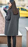 Женский прямое пальто с отложным воротником (в расцветках), фото 2
