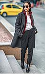Женский прямое пальто с отложным воротником (в расцветках), фото 3