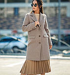 Женский прямое пальто с отложным воротником (в расцветках), фото 7