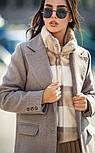 Женский прямое пальто с отложным воротником (в расцветках), фото 4