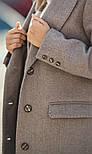 Женский прямое пальто с отложным воротником (в расцветках), фото 5