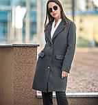 Женский прямое пальто с отложным воротником (в расцветках), фото 6