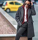 Женский прямое пальто с отложным воротником (в расцветках), фото 8