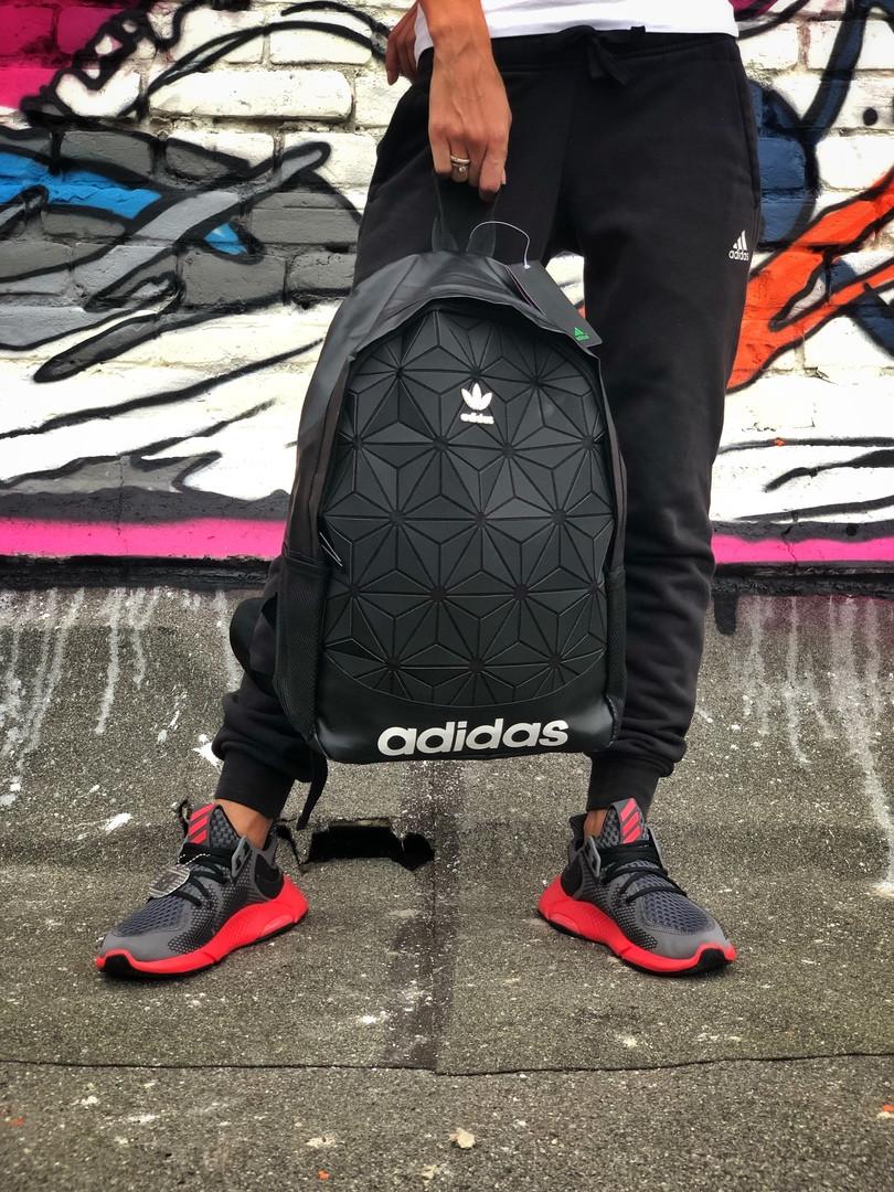 Рюкзак Adidas 3D Urban Mesh черный. Стильный городской рюкзак рефлективный.