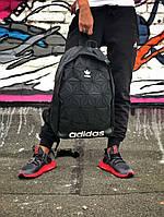 Рюкзак Adidas 3D Urban Mesh черный. Стильный городской рюкзак рефлективный. , фото 1