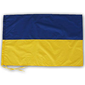 Флаг Украины 75х120 см с завязками для флагштока