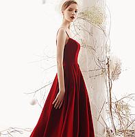 Роскошное вечерние женское платье. Червона вечірня пишна сукня