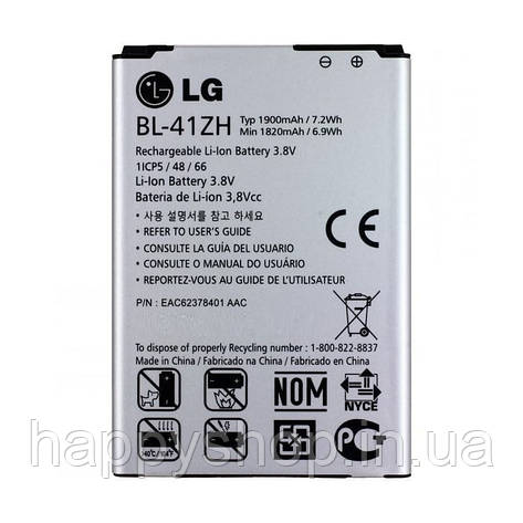 Оригинальная батарея для LG L FINO D295 (BL-41ZH), фото 2