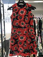 Платье женское чёрное с красными маками