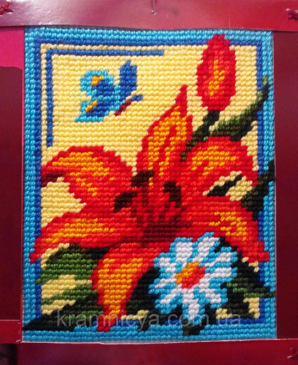 """Набор для вышивания с пряжей """"Лилия"""" 15х20 см. Bambini арт. 2244"""