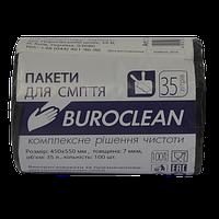 Пакеты для мусора Buroclean EcoStandart 35 л 100 шт чёрные