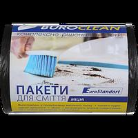 Пакеты для мусора Buroclean EuroStandart прочные 35 л 100 шт чёрные
