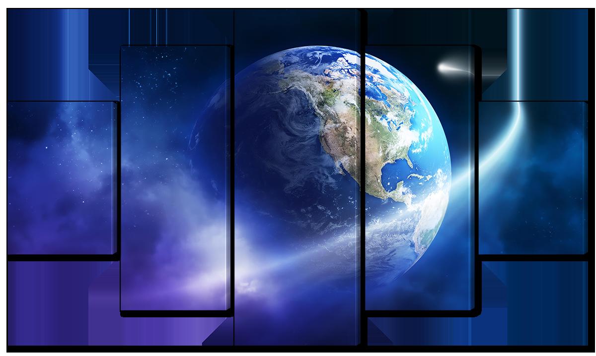 Модульная картина Interno Холст Орбита земли 158х90см (R1509XL)