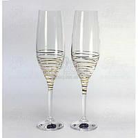 Crystalex Набор бокалов для шампанского Viola M8441 190мл 40729/190/M8441