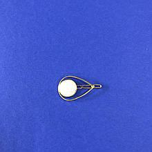 Заколка для волос металлическая золотая в форме Капли