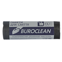 Пакеты для мусора Buroclean EcoStandart 60 л 40 шт чёрные