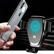 Автомобильный держатель с беспроводной зарядкой для телефона Wireless Charger HWC 1, фото 4