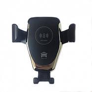 Автомобильный держатель с беспроводной зарядкой для телефона Wireless Charger HWC 1, фото 5