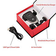 Автомобильный держатель с беспроводной зарядкой для телефона Wireless Charger HWC 1, фото 8