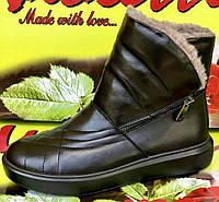 Ботинки женские на низком ходу из натуральной кожи от производителя модель ВЛ937