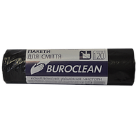 Пакеты для мусора Buroclean EcoStandart 120 л 10 шт чёрные