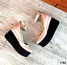 Женские туфли цвета пудра на платформе, натуральная кожа 39 40 ПОСЛЕДНИЕ РАЗМЕРЫ, фото 5