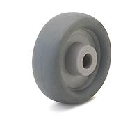 Колесо полипропилен/термопластичная резина, диаметр 75 мм, нагрузка 50 кг, под ось 6 мм