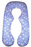 """Подушка для беременных и кормления """"Восьмёрка"""" голубая, фото 1"""