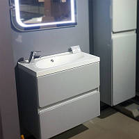 Шкаф на ножках FANCY MARBLE Tatania c раковиной Tatania 700 серый